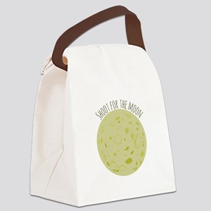 Shoot For Moon Canvas Lunch Bag