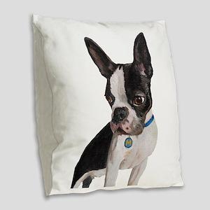 Poser Burlap Throw Pillow