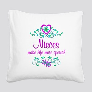 Special Niece Square Canvas Pillow