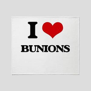 I Love Bunions Throw Blanket