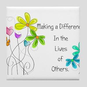 Caregiver Quote Tile Coaster