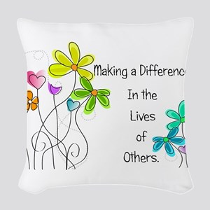 Caregiver Quote Woven Throw Pillow
