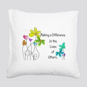 Caregiver Quote Square Canvas Pillow
