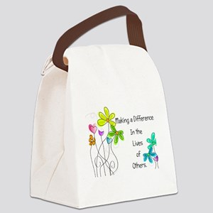 Caregiver Quote Canvas Lunch Bag