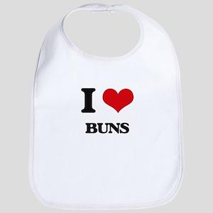 I Love Buns Bib
