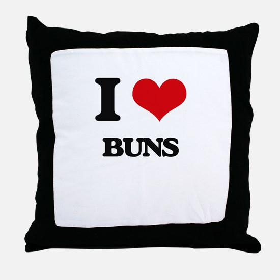 I Love Buns Throw Pillow