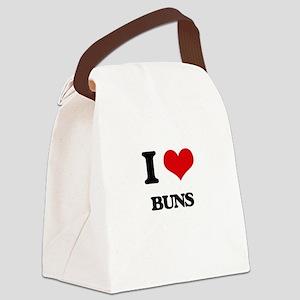 I Love Buns Canvas Lunch Bag