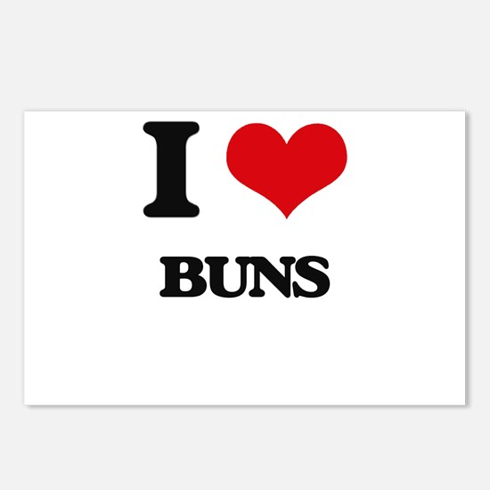I Love Buns Postcards (Package of 8)