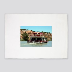 Houseboat on the Murray River, Aust 5'x7'Area Rug
