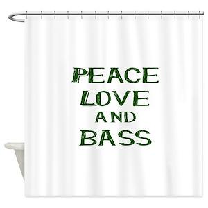 Bass Guitar Shower Curtains Cafepress