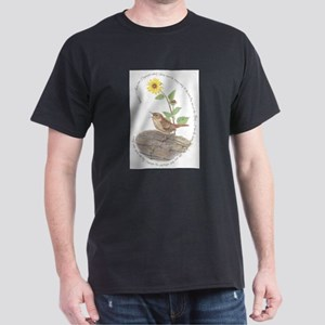 House wren and Sunflower T-Shirt