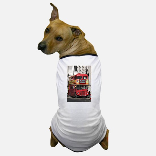 Vintage Red London Bus Dog T-Shirt