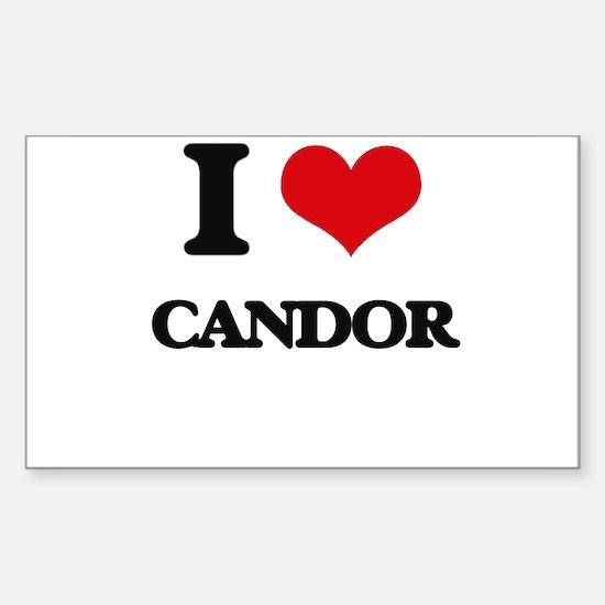I love Candor Decal