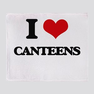 I love Canteens Throw Blanket
