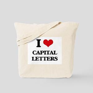 I love Capital Letters Tote Bag