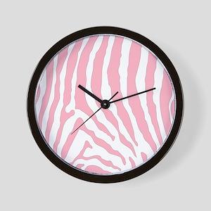 Pink Zebra Skin Pattern Wall Clock