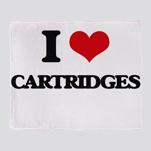 I love Cartridges Throw Blanket