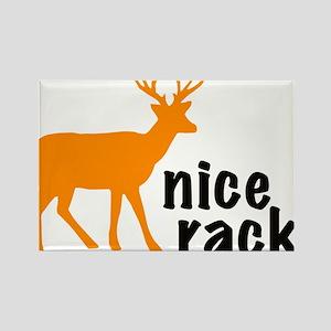 Resden Nice Rack Deer Rectangle Magnet