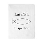 Lutefisk Inspector Twin Duvet