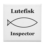 Lutefisk Inspector Tile Coaster