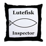 Lutefisk Inspector Throw Pillow