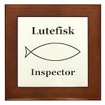 Lutefisk Inspector Framed Tile