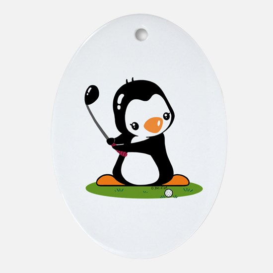I Like Golf (2) Oval Ornament