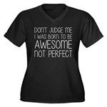 Born To Be A Women's Plus Size V-Neck Dark T-Shirt
