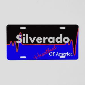 Silverado Heartbeat Aluminum License Plate