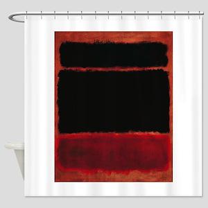 ROTHKO RED_BLACK Shower Curtain