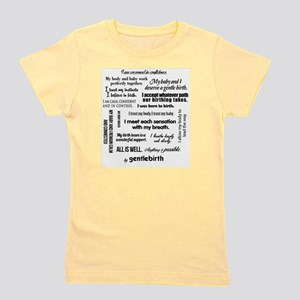 Affirmations Girl's Tee