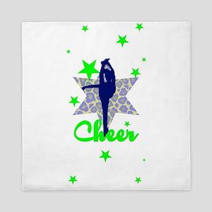 Blue and Green Cheerleader Queen Duvet