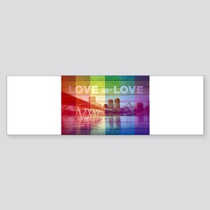 RVA SKYLINE, RAINBOW LOVE IS LOVE Bumper Sticker