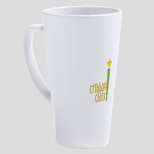 Cribbage Chick 17 oz Latte Mug