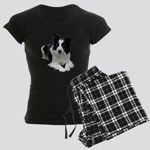 Black and White Border Collie Pajamas