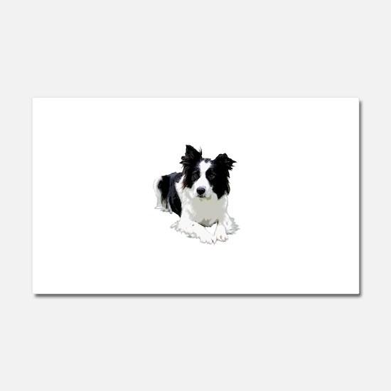 Black and White Border Collie Car Magnet 20 x 12