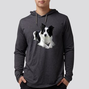 Black and White Border Collie Long Sleeve T-Shirt