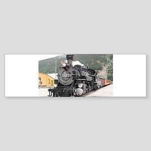 Steam train engine Silverton, Color Bumper Sticker