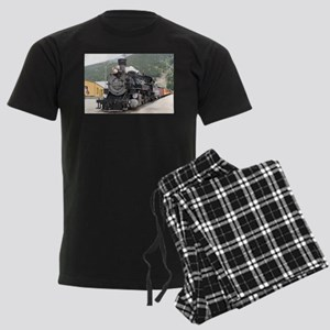 Steam train engine Silverton, Men's Dark Pajamas