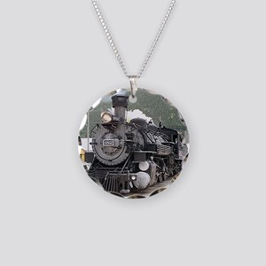 Steam train engine Silverton Necklace Circle Charm