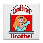 Canal Street Brothel Tile Coaster