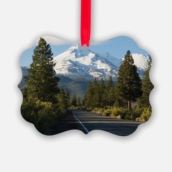 Road to Mount Shasta Ornament