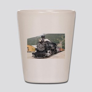 Steam train engine Silverton, Colorado, Shot Glass