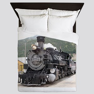 Steam train engine Silverton, Colorado Queen Duvet
