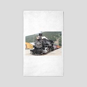 Steam train engine Silverton, Colorado, U Area Rug