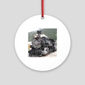 Steam train engine Silverton, Col Ornament (Round)