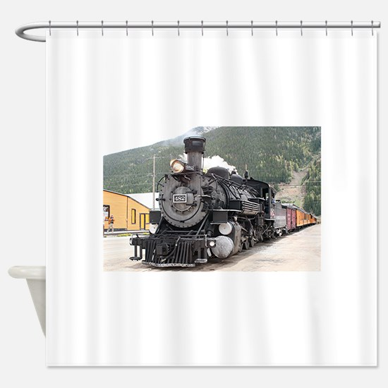 Steam train engine Silverton, Color Shower Curtain