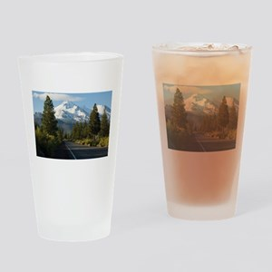Road to Mount Shasta Drinking Glass