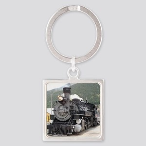 Steam train engine Silverton, C Keychains