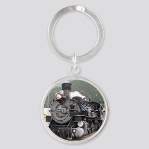 Steam train engine Silverton, C Keychains